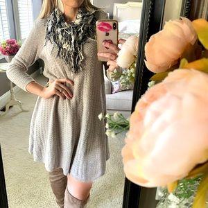 AMERICAN EAGLE | Neutral Knit Sweater Dress